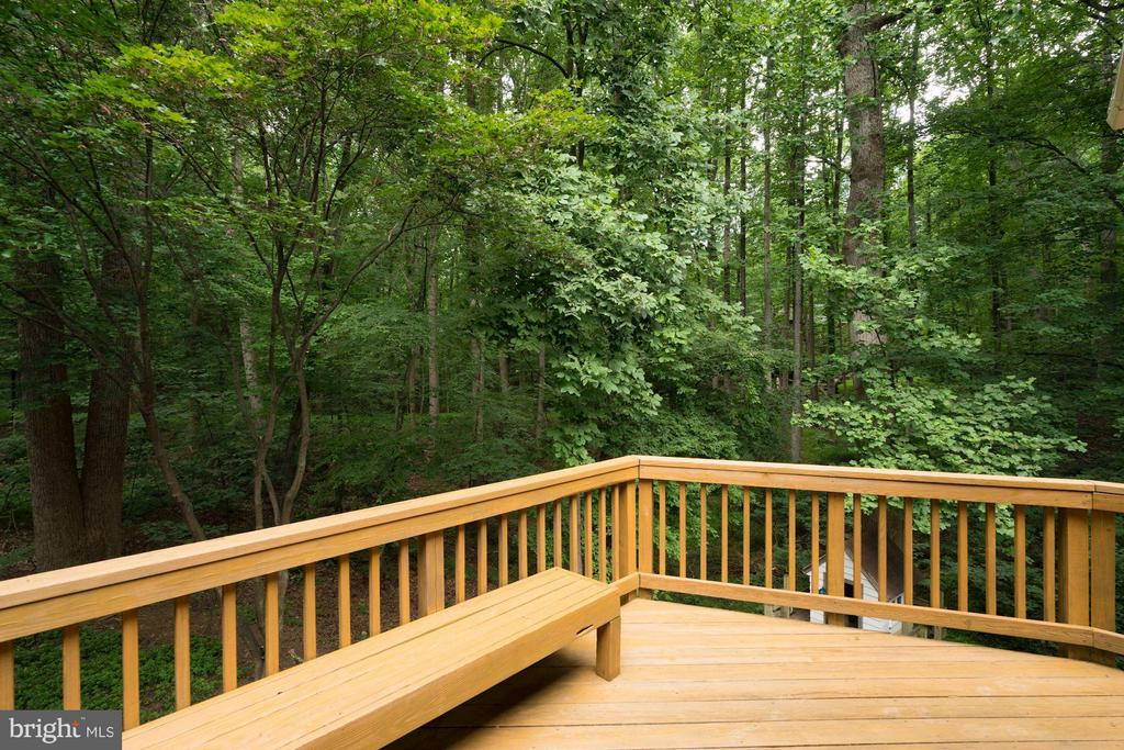 Large Deck Overlooking Beautiful Wooded Area - 740 POTOMAC RIVER RD, MCLEAN