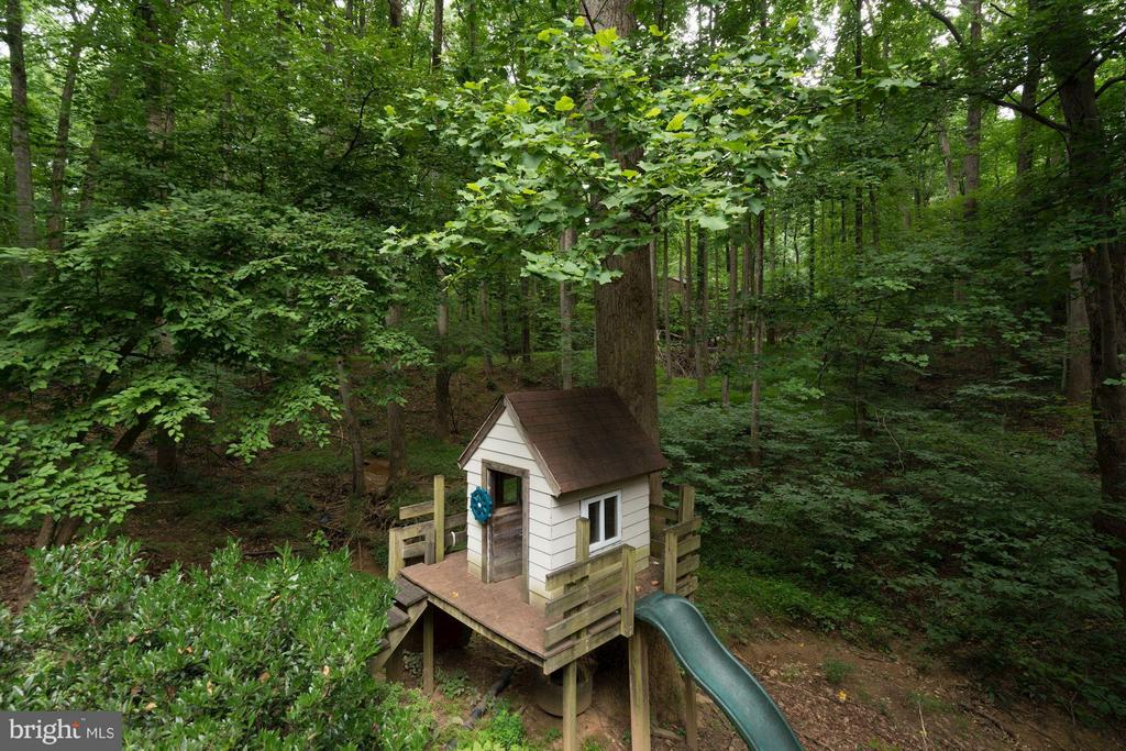 Play House with slide in Backyard - 740 POTOMAC RIVER RD, MCLEAN