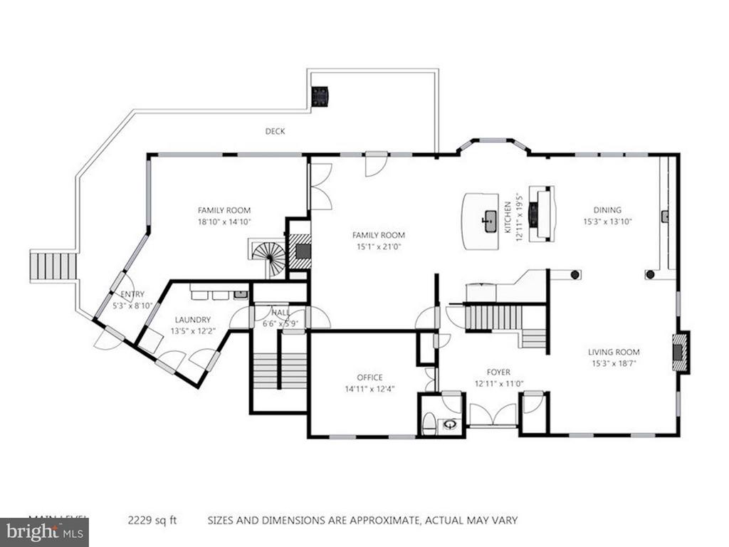Floor Plan Main Level - 740 POTOMAC RIVER RD, MCLEAN