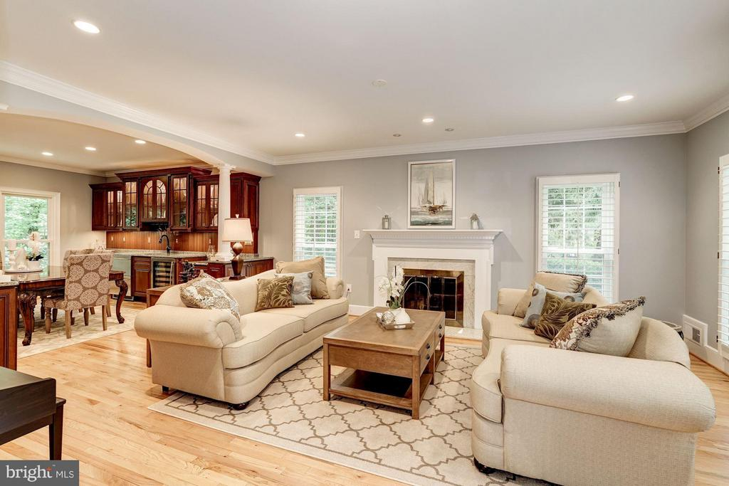 Living Room w/ Gas Fireplace - 740 POTOMAC RIVER RD, MCLEAN
