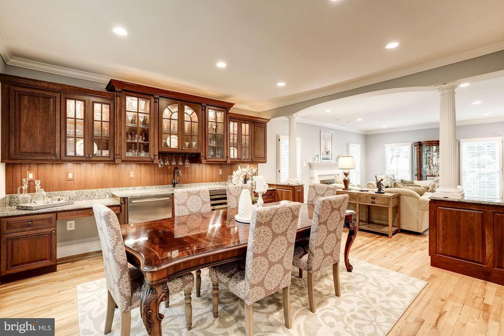 Dining Room-Exquisite Wet Bar w/Wine Cooler, - 740 POTOMAC RIVER RD, MCLEAN