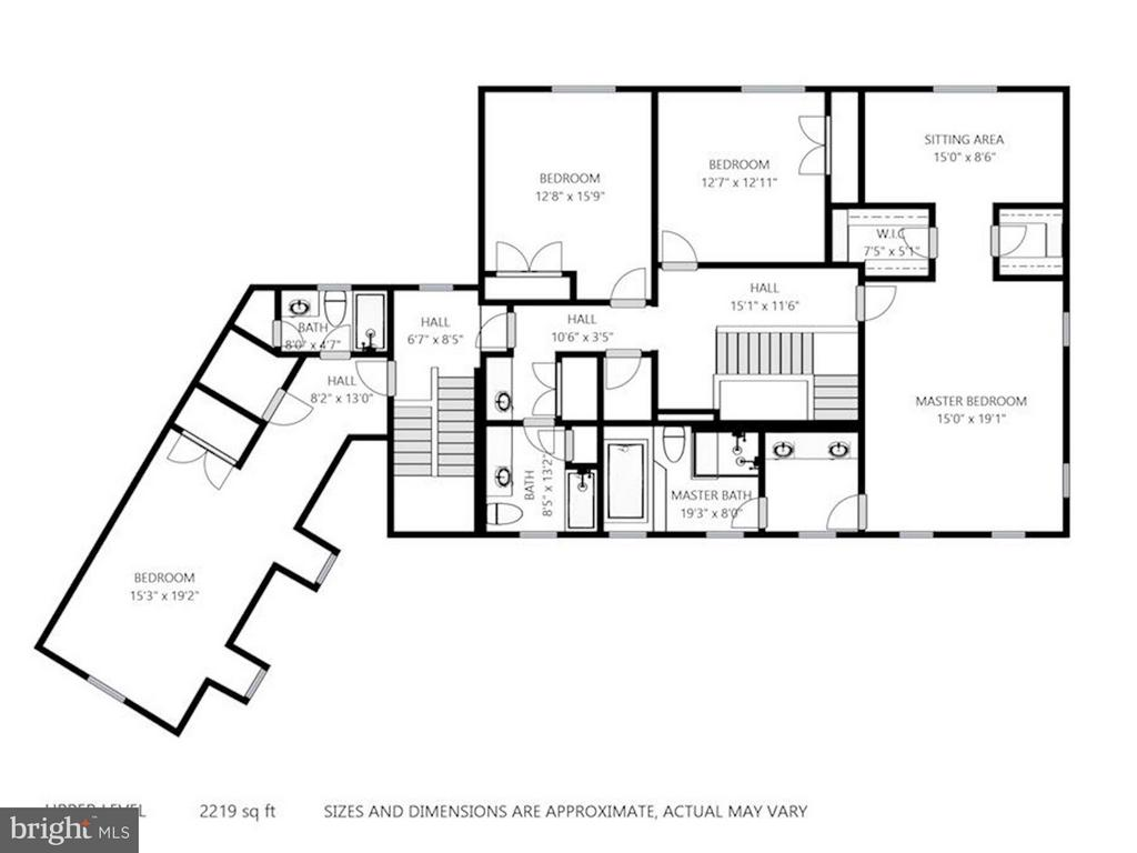 Floor Plan Upper Level - 740 POTOMAC RIVER RD, MCLEAN