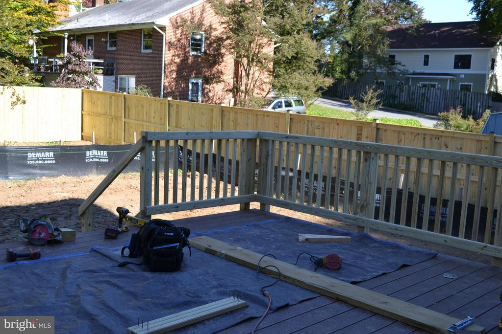Deck is nearly done. - 402 SPRING ST S, FALLS CHURCH