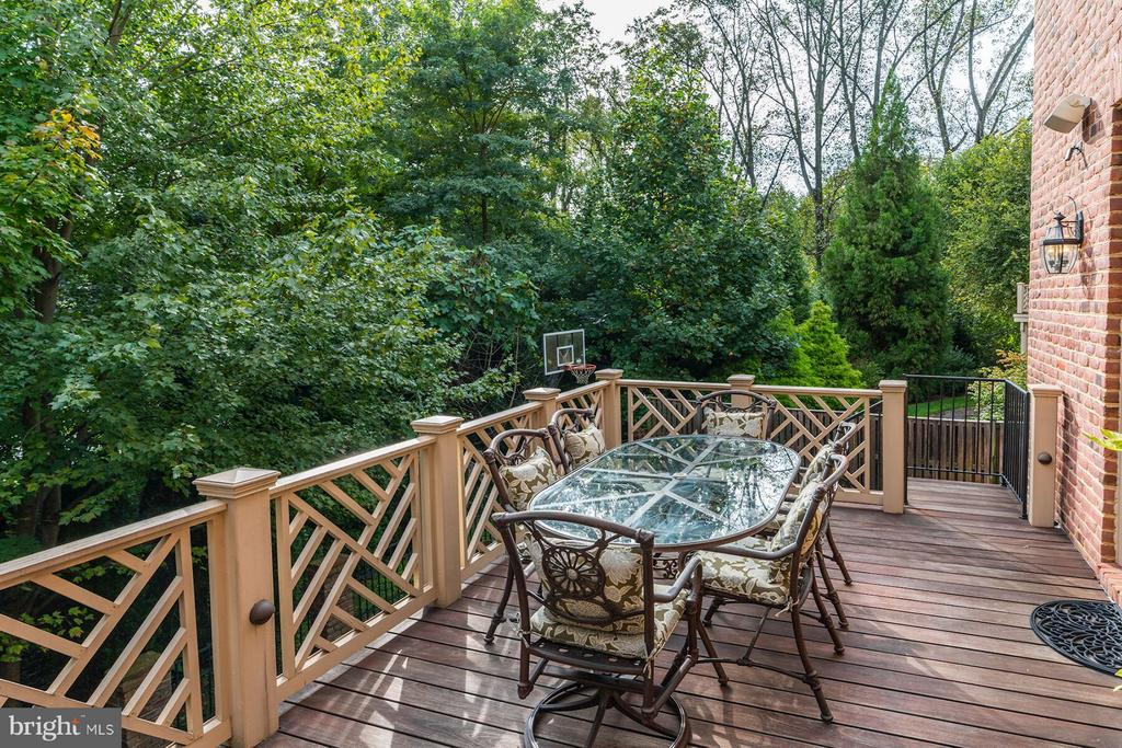 Elevated Deck with Spiral Staircase to Grassy Yard - 2323 N RIDGEVIEW RD, ARLINGTON