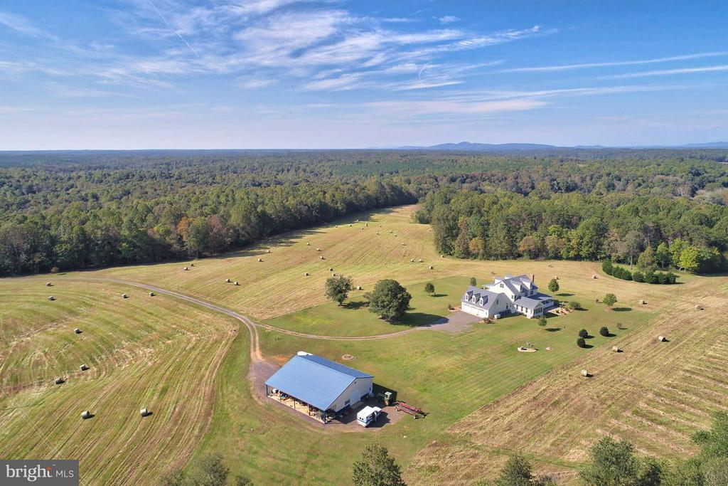 Aerial view of farm looking northwesterly - 2921 DUCKER DR, LOCUST GROVE