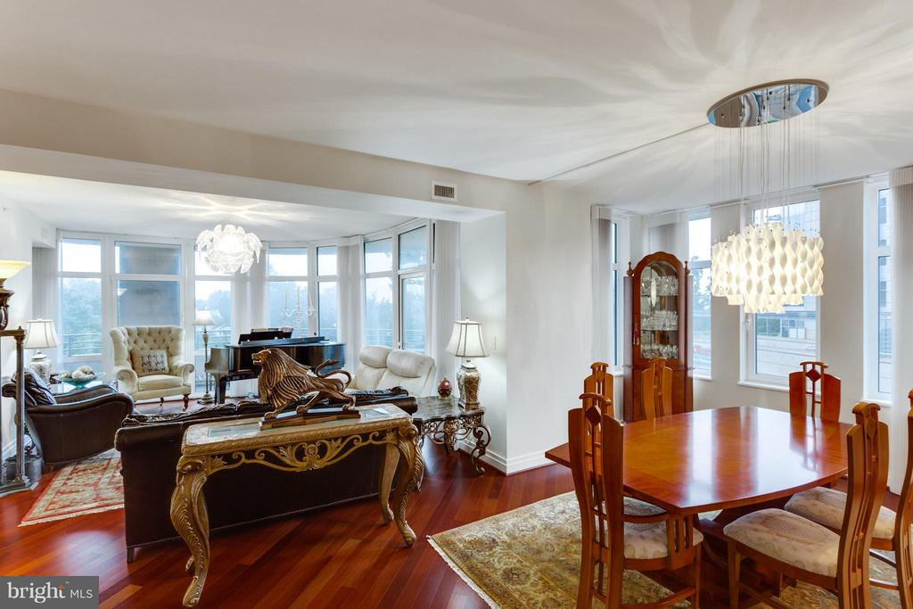 Living Room and Dining Room - 8220 CRESTWOOD HEIGHTS DR #316, MCLEAN