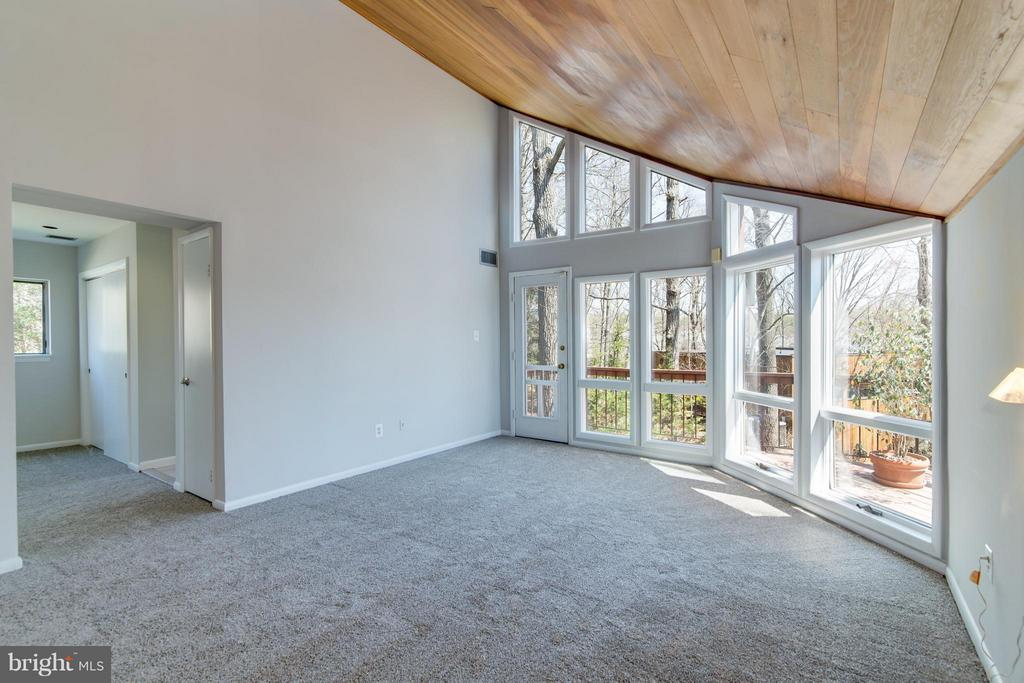 Vaulted ceilings with wood ceiling - 2003 CUTWATER CT, RESTON