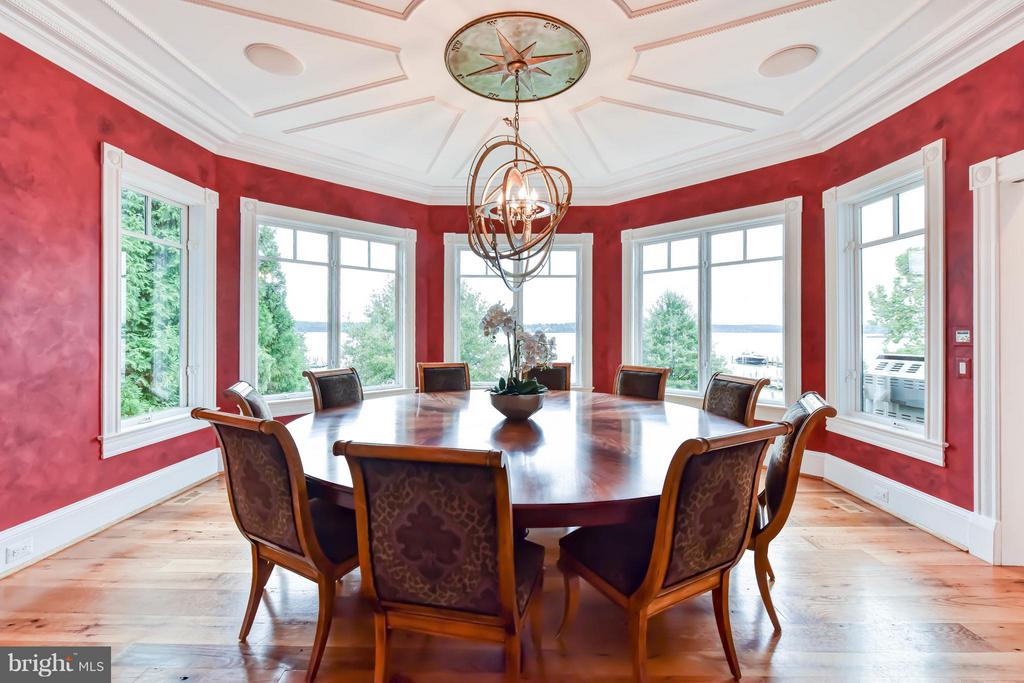 Directionally -accurate compass ceiling pendant - 7615 SOUTHDOWN RD, ALEXANDRIA