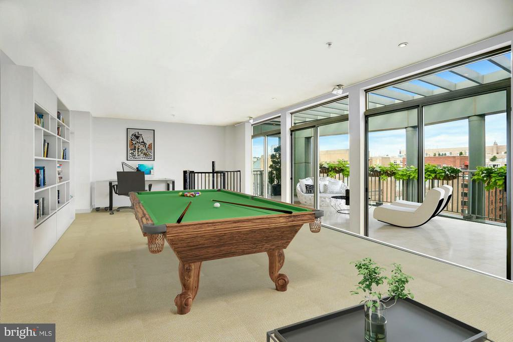 Upper level entertainment room, Virtually Staged - 2425 L ST NW #936, WASHINGTON