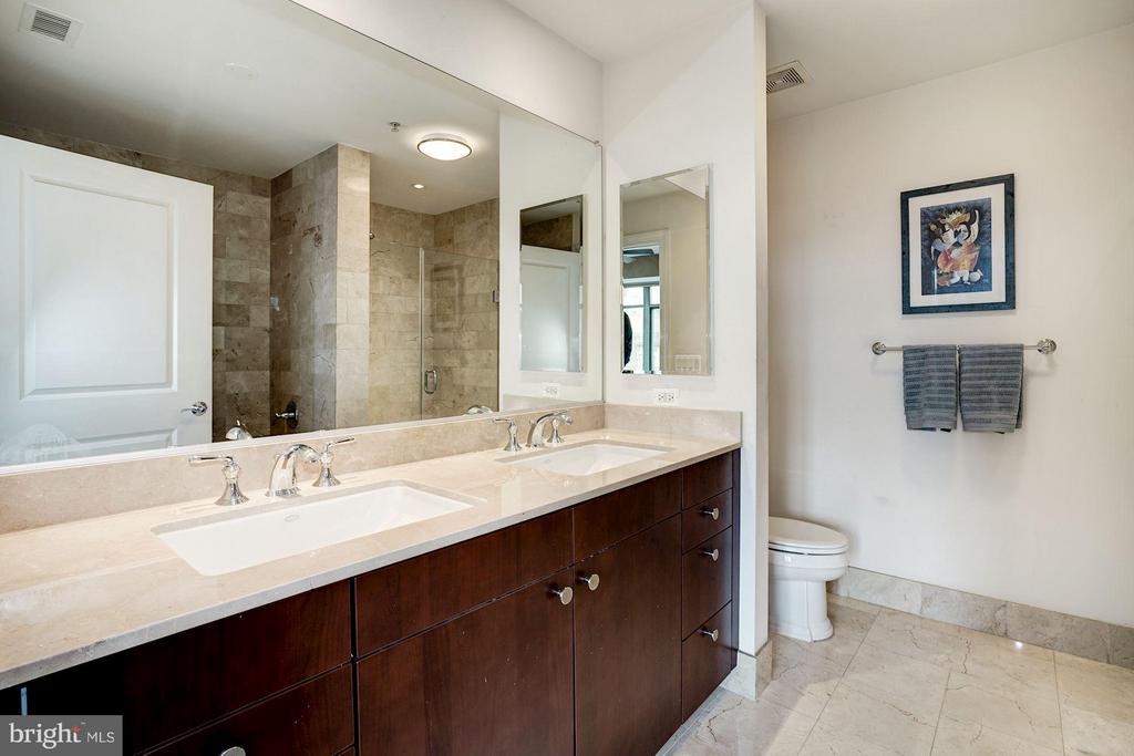 Master Bath with twin sinks - 2425 L ST NW #936, WASHINGTON
