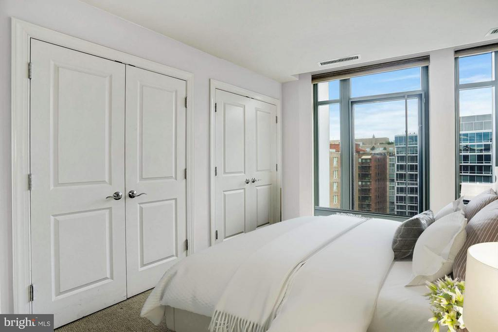 Guest Bedroom Virtually Staged - 2425 L ST NW #936, WASHINGTON