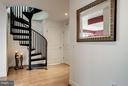 Dramatic spiral staircase to upper level - 2425 L ST NW #936, WASHINGTON