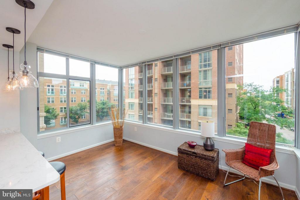 Open to kitchen with lovely treed view - 11990 MARKET ST #217, RESTON