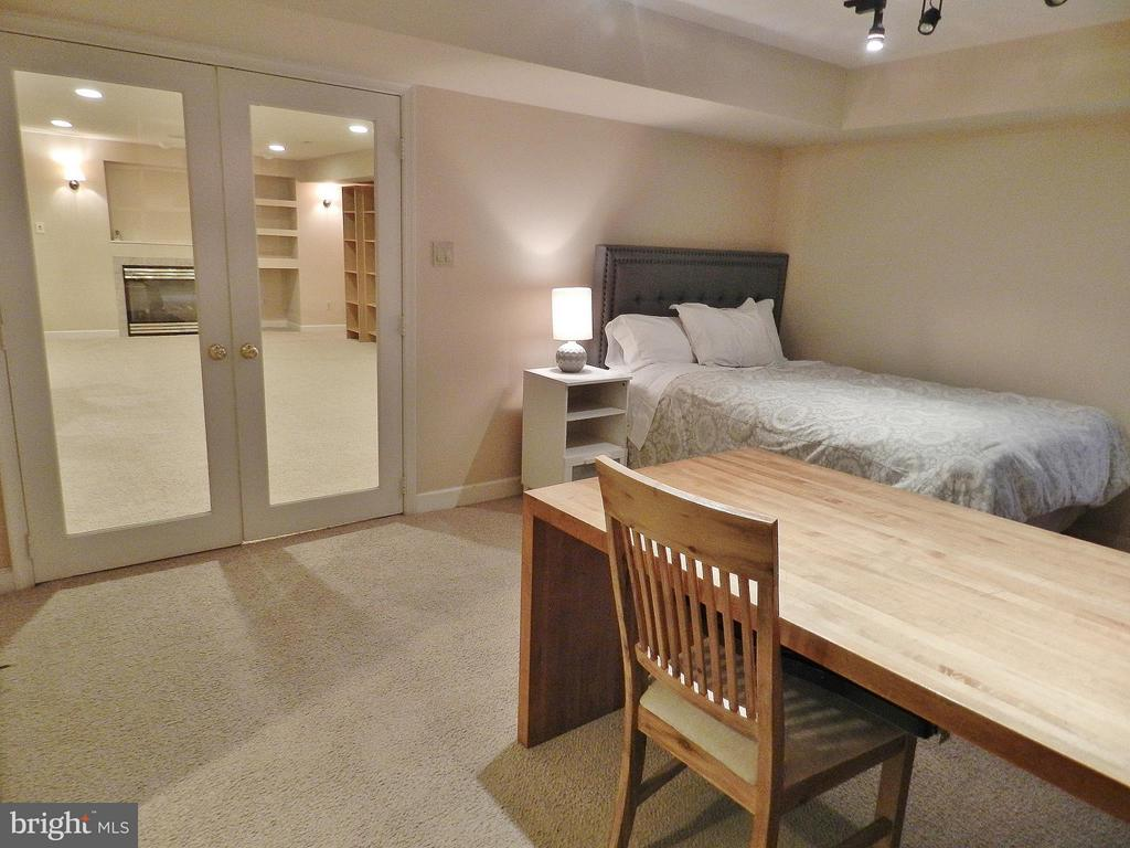 Basement Bedroom, private double doors - 9974 STONE VALE DR, VIENNA