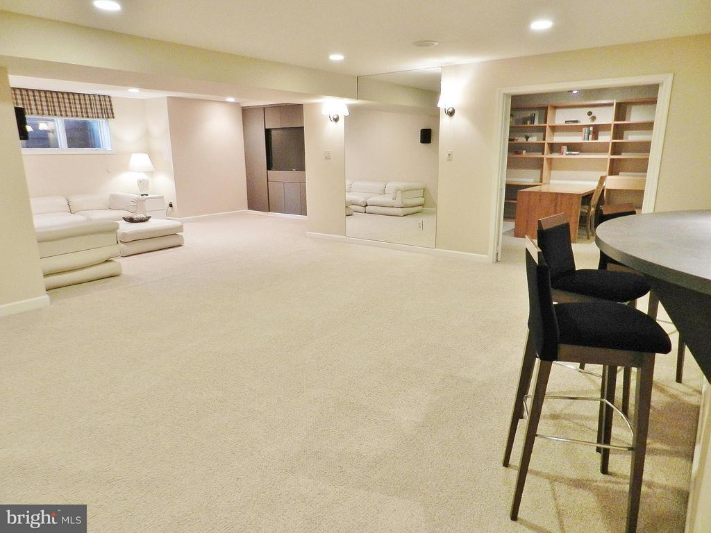 Expansive basement with recreation room, bar, etc. - 9974 STONE VALE DR, VIENNA