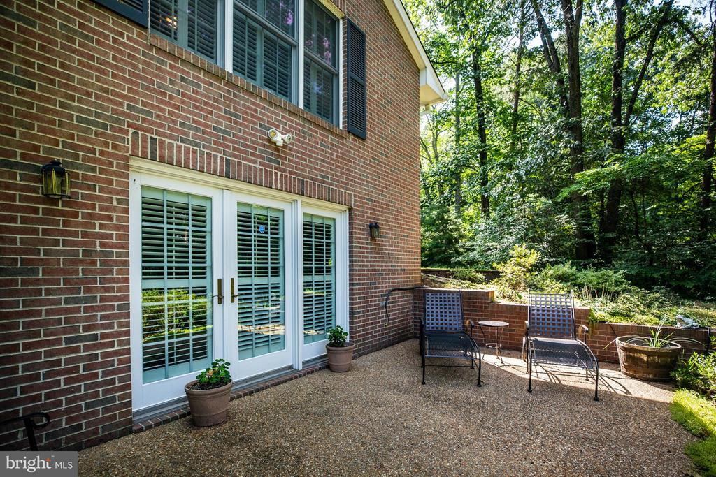 Patio off of Rec Room in Lower Level - 214 TWIN LAKE DR, FREDERICKSBURG