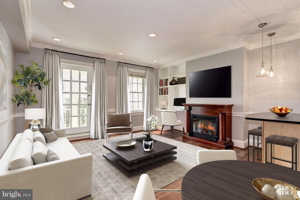 Sleek & modern virtual decor - 3239 N ST NW #11, WASHINGTON