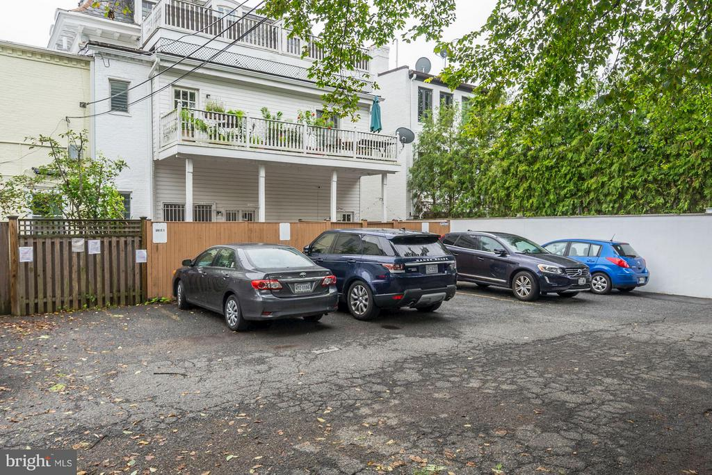 Parking included in sales price - 3239 N ST NW #11, WASHINGTON