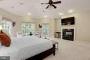 Bedroom (Master)Master Suite with Gas 2-sided FRPL - 20258 ISLAND VIEW CT, STERLING