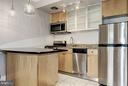Kitchen with NEW SS appliances - 3239 N ST NW #11, WASHINGTON
