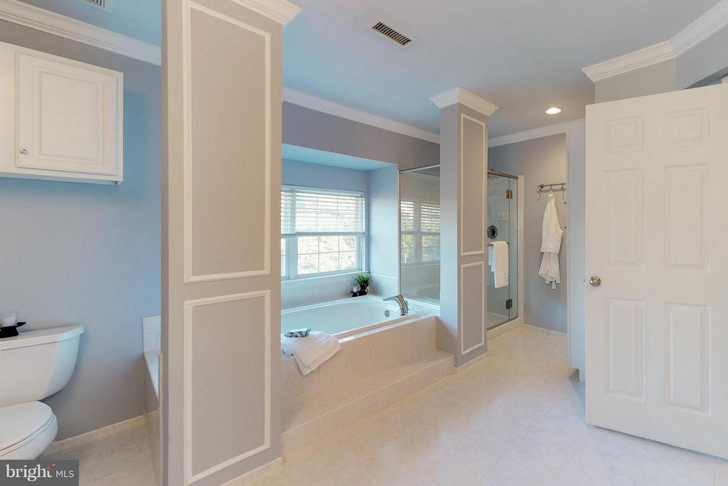 Separate  soaking tub and separate  shower - 9800 BOLTON VILLAGE CT, FAIRFAX