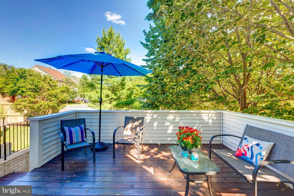 Lovely Wood  Deck - 9800 BOLTON VILLAGE CT, FAIRFAX