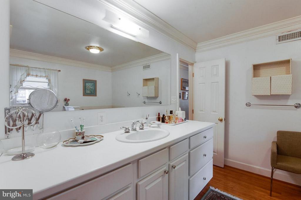 Elongated Vanity in the Master Bath - 7920 LEWINSVILLE RD, MCLEAN