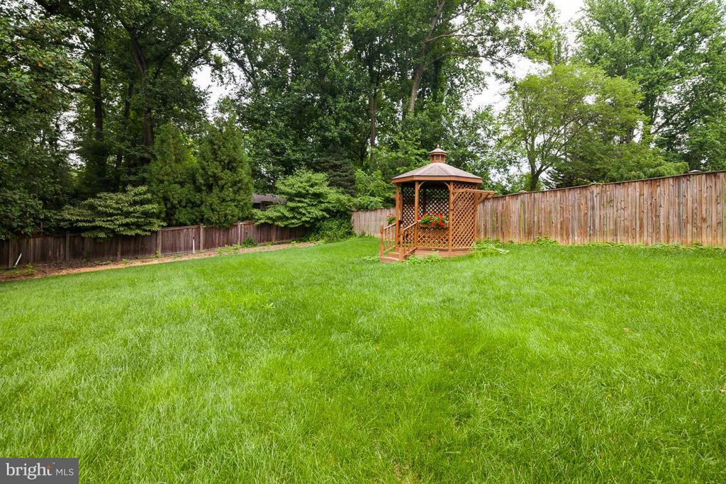 Lovely gazebo next to zucchini and tomato garden - 7920 LEWINSVILLE RD, MCLEAN