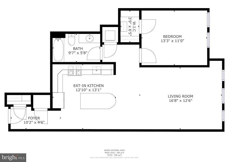 Floor plan - 1023 ROYAL ST #306, ALEXANDRIA