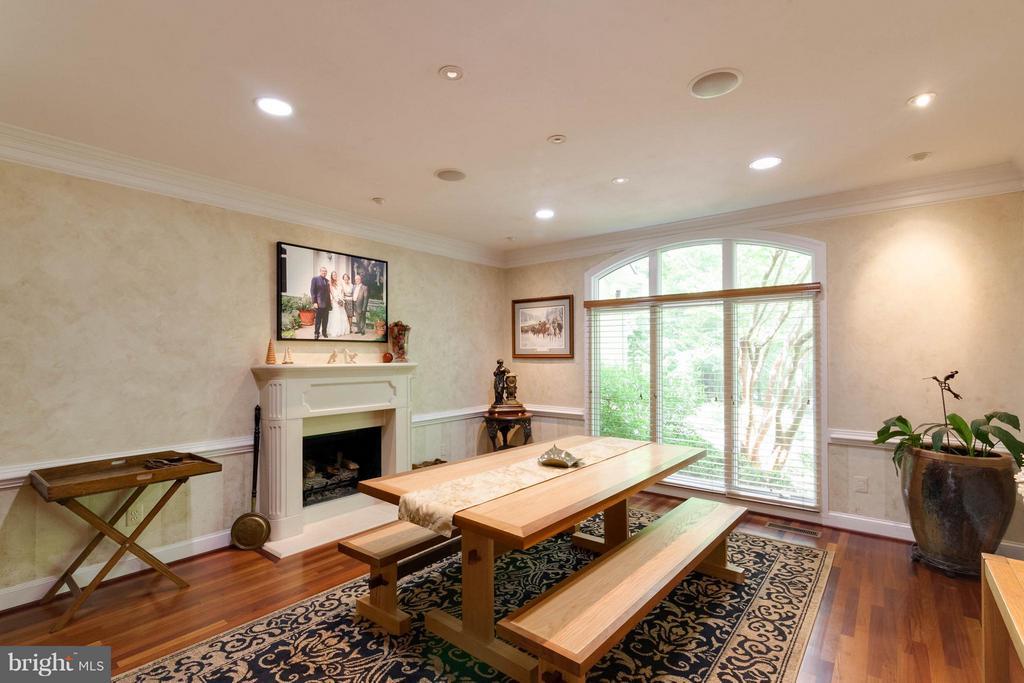 Dining Room w gas fireplace - 7111 TWELVE OAKS DR, FAIRFAX STATION