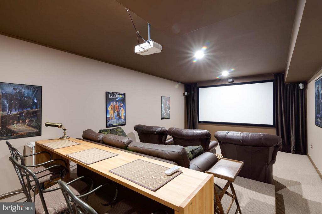 Home Theater - 7111 TWELVE OAKS DR, FAIRFAX STATION