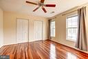 Master bedroom with excellent closet space - 4314 SUTLER HILL SQ, FAIRFAX