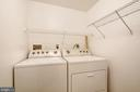 Laundry room with pantry shelves (not pictured) - 4314 SUTLER HILL SQ, FAIRFAX