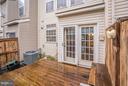 Outdoor patio off of the kitchen - 4314 SUTLER HILL SQ, FAIRFAX
