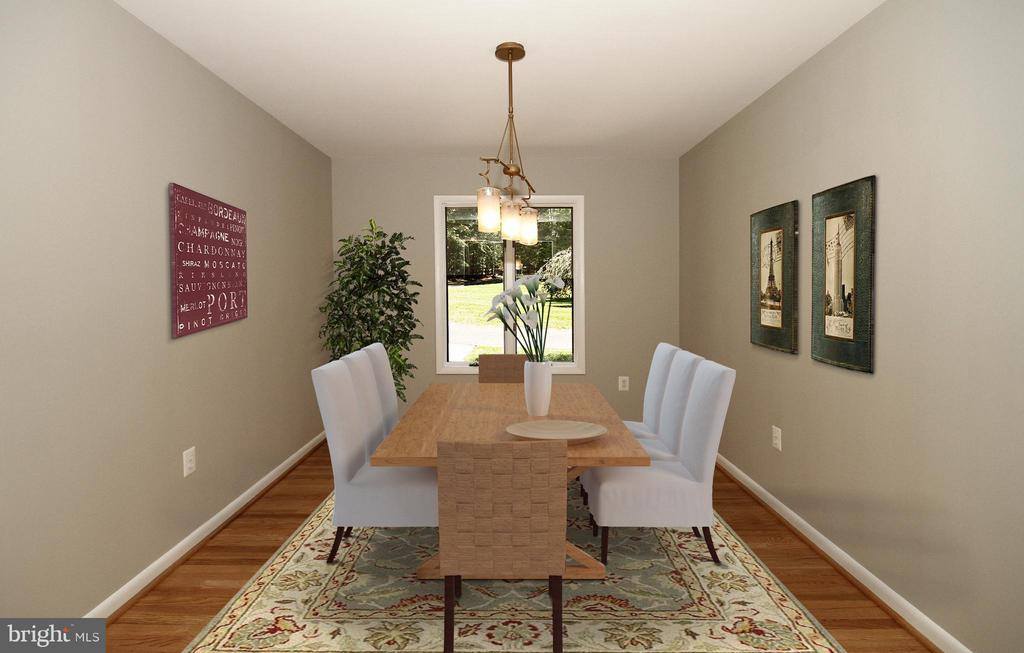 Dining Room with hardwood floors - 10714 MILKWEED DR, GREAT FALLS