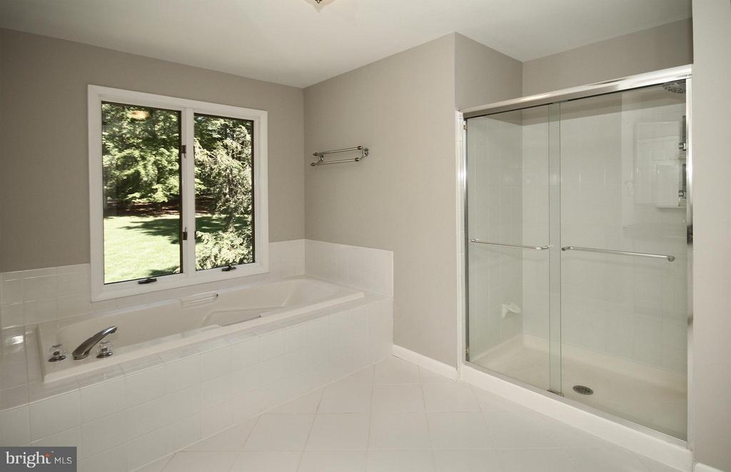 Large tub and separate shower in Grand Bath - 10714 MILKWEED DR, GREAT FALLS