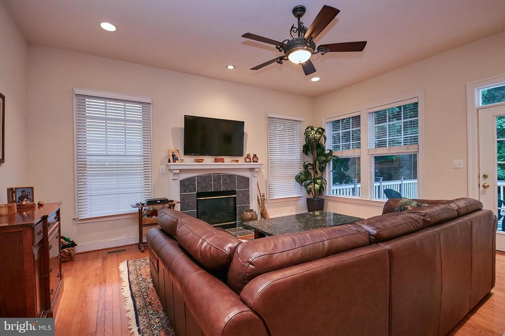 Family Room w/ gas fireplace - 7224 FARR ST, ANNANDALE