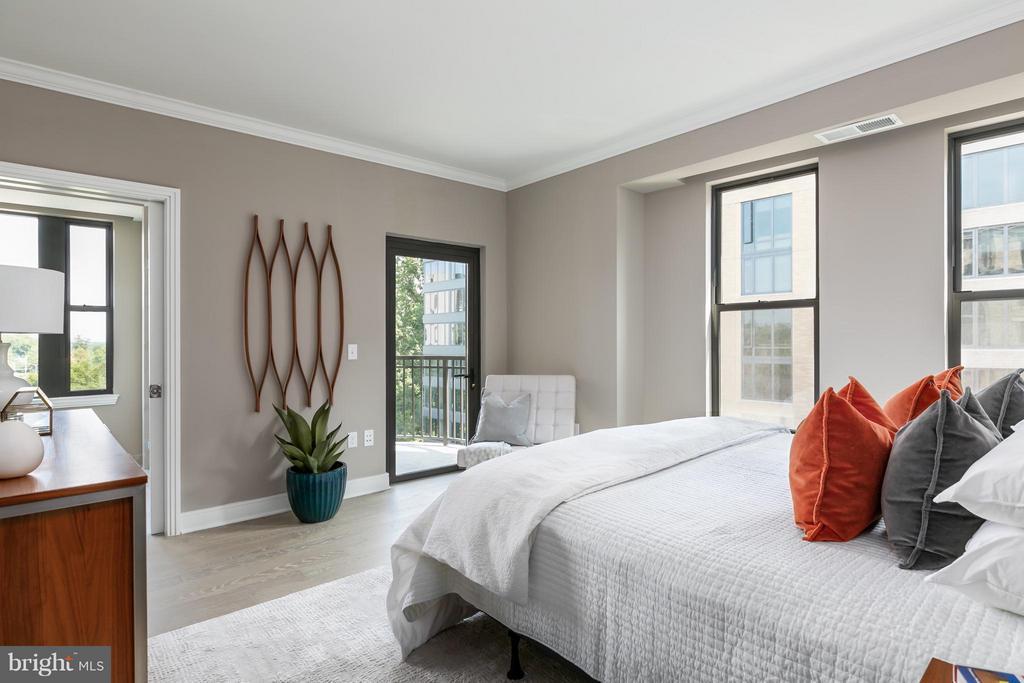 Bedroom (Master) - 8302 WOODMONT AVE #601, BETHESDA