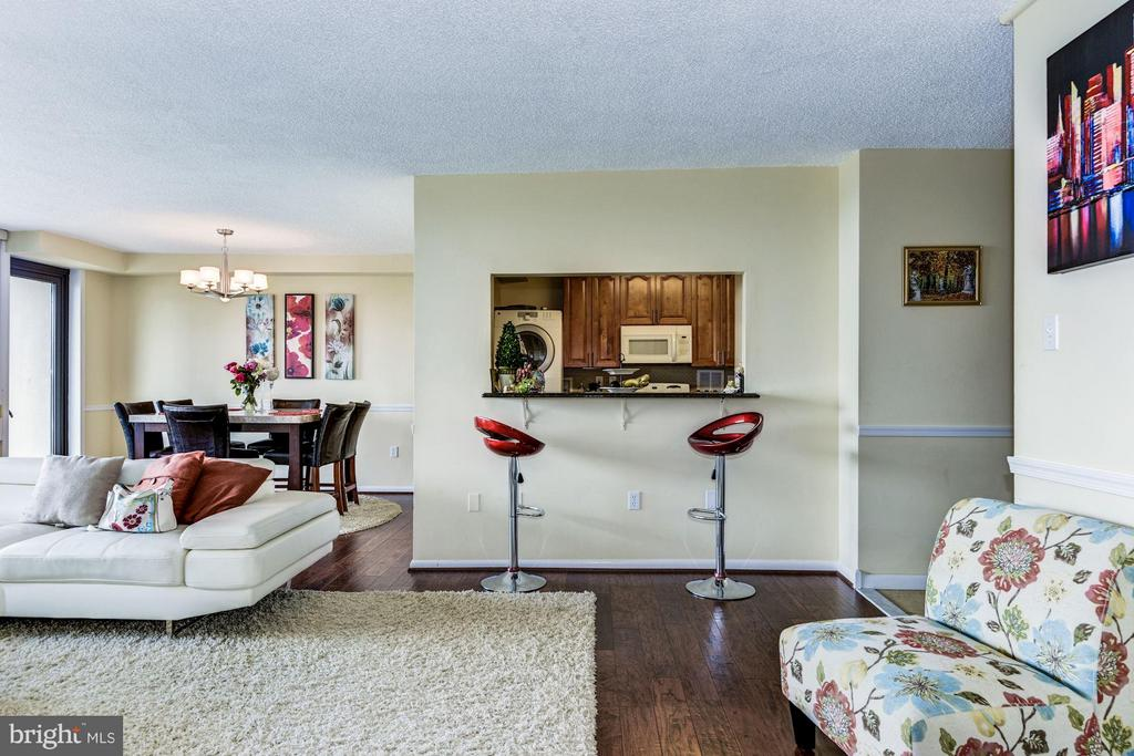 IShows passway with granite counter to kitchen - 3701 GEORGE MASON DR #1406N, FALLS CHURCH
