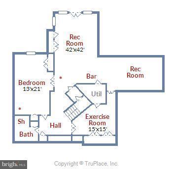 Basement Floor Plan - 43554 COAL BED CT, ASHBURN