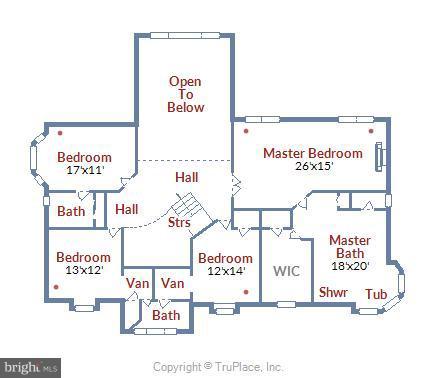 Upper Level Floor Plan - 43554 COAL BED CT, ASHBURN