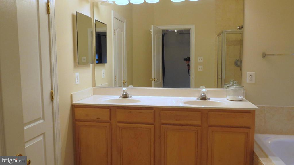 Double Sink Vanity in Master Bath - 42573 REGAL WOOD DR, ASHBURN