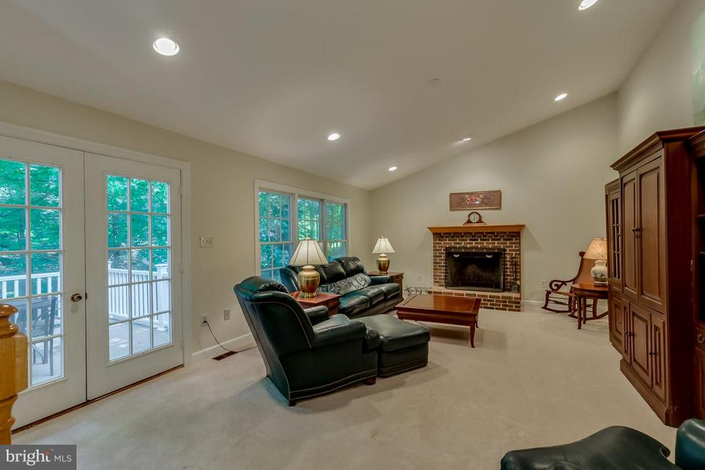 Wood fireplace and dramatic vaulted ceilings - 9879 HEMLOCK HILLS CT, MANASSAS