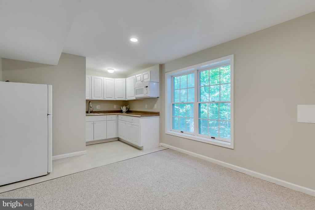 Lower level kitchenette with walk-out - 9879 HEMLOCK HILLS CT, MANASSAS