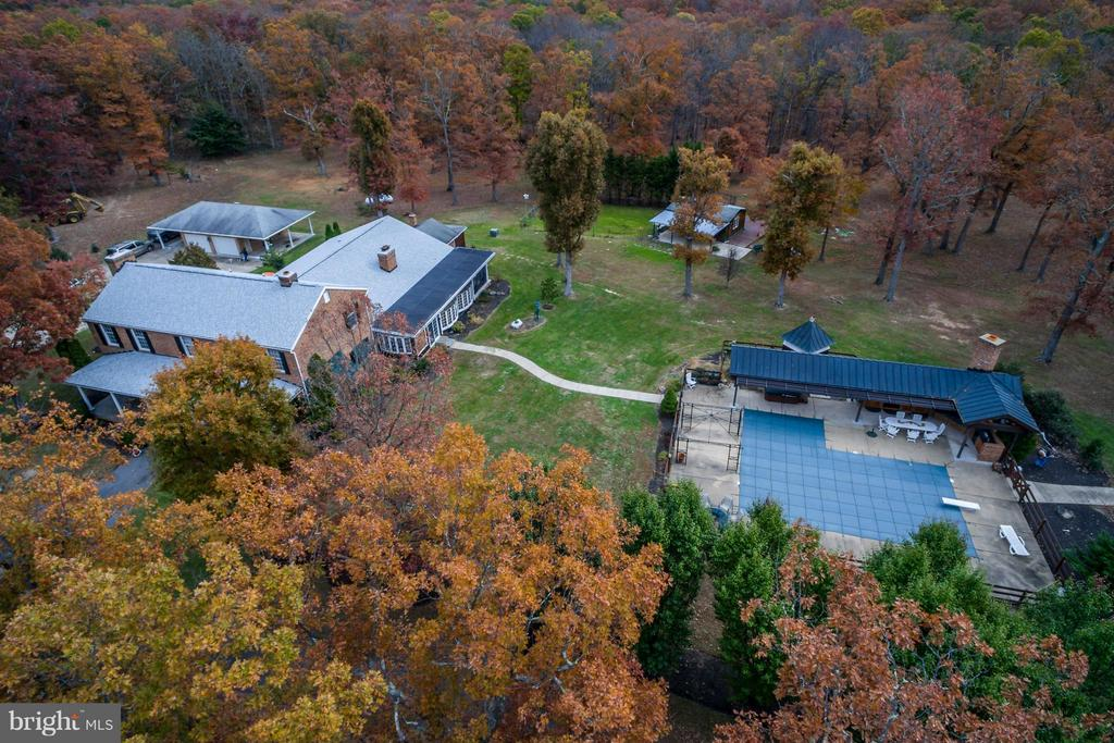 Aerial view - 3401 BACK MOUNTAIN RD, WINCHESTER