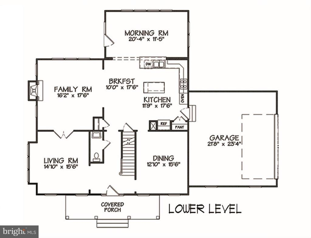 Main Level Floor Plan - INDIAN POINT RD, STAFFORD