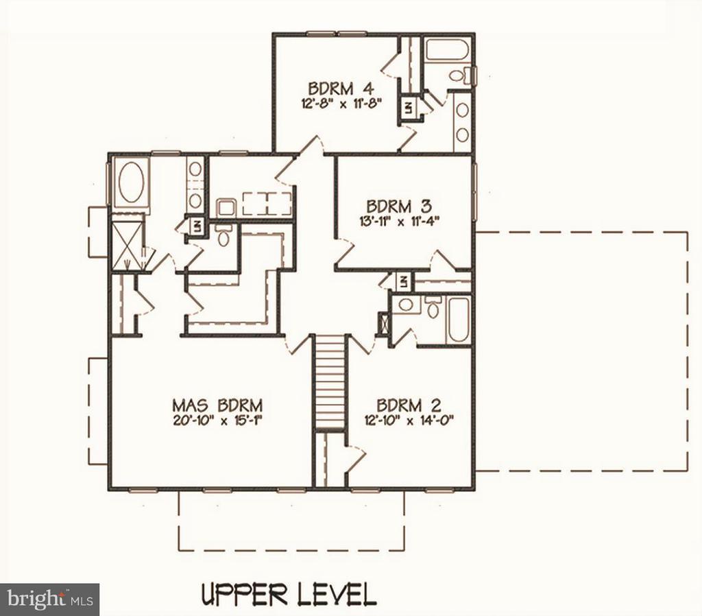 Upper Level Floor Plan - INDIAN POINT RD, STAFFORD
