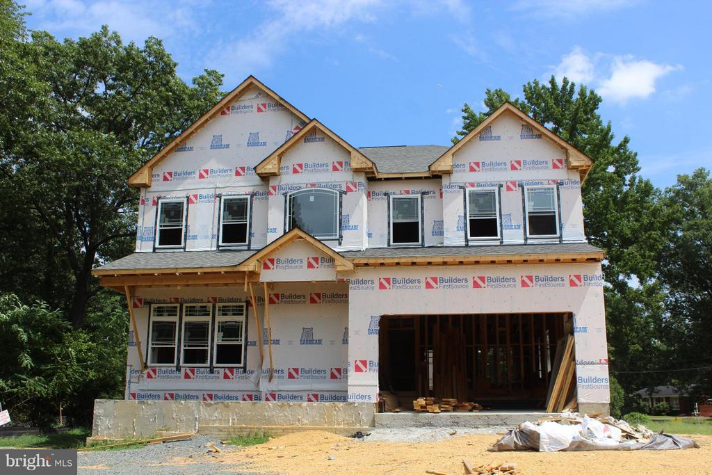 Exterior (Front)  House is coming along - 6617 GREENLEAF ST, SPRINGFIELD