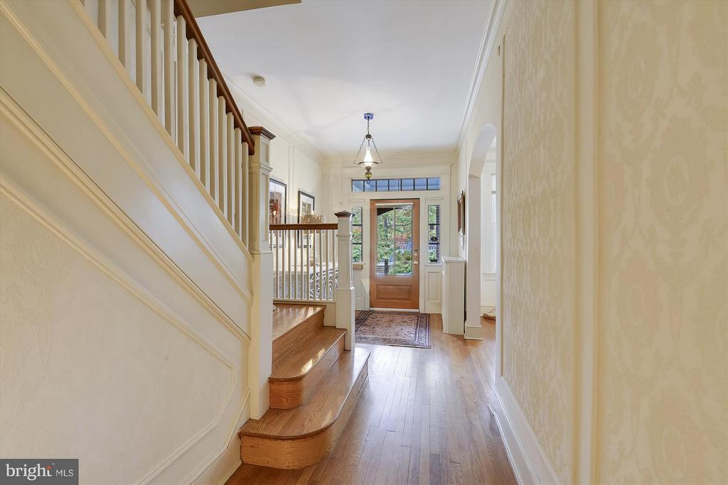 Second View of Grand Entry Foyer - 1622 ALLISON ST NW, WASHINGTON
