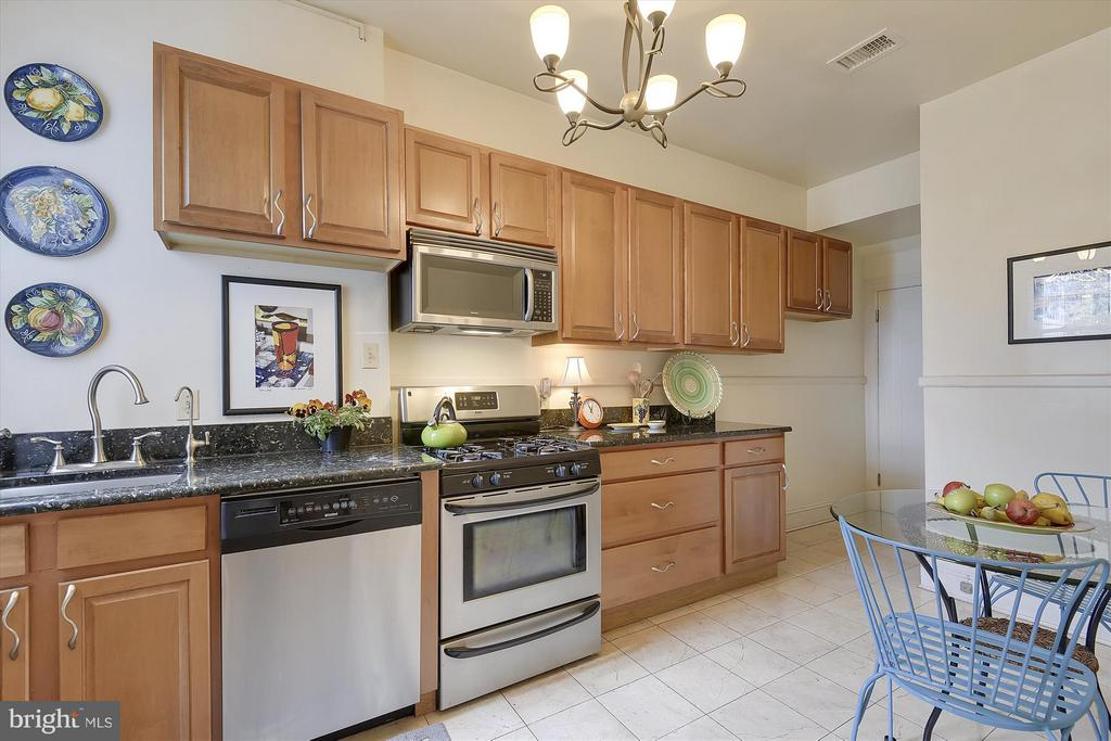 Updated Eat-In Kitchen with SS Appliances - 1622 ALLISON ST NW, WASHINGTON